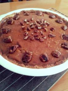 Pumpkin Pie topped w Pecans