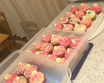 Classic Birthday Girl Cupcakes